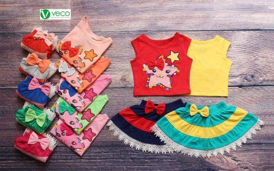 Quần áo trẻ em xuất khẩu giá sỉ 0901197946 - Bộ váy ngôi sao