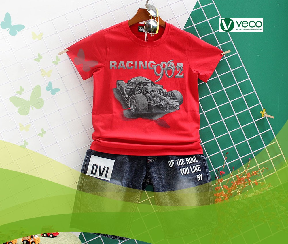 Địa chỉ bán sỉ quần áo trẻ em nam hàng Tết 2020-Xưởng may quần áo trẻ em xuất khẩu giá sỉ Veco